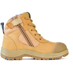 Bata Safety Boots Dakota - Wheat Zip Ladies - Size 8 - 50488017-080