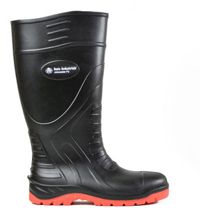 Bata Safety Boots Jobmaster PU Black/Red Gumboot - Size 4 - 89265020-040