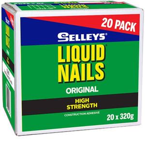 Selleys Liquid Nails High Strength 320g 20 Pack - 100214