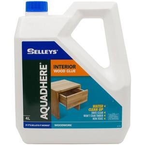 Selleys 4L PVA Wood Glue Aquadhere Interior Adhesive - 100010