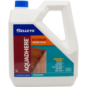 Selleys 4L PVA Wood Glue Aquadhere Exterior Adhesive - 100015
