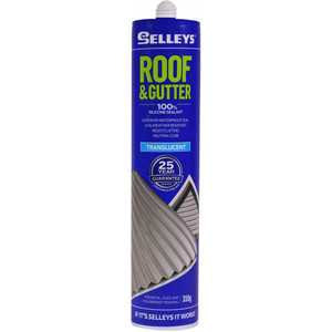 Selleys 310g Roof And Gutter Silicone - Translucent - 100624