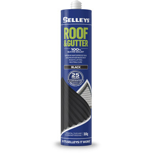 Selleys 310g Roof And Gutter Silicone - Black - 100622