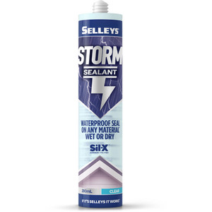 Selleys 290ml Clear Storm Waterproof Gutter And Roof Sealant - 101039