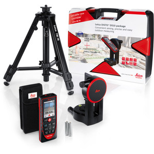 Leica Disto D510 Laser Distance Measurer Combo Kit With Tripod & Adapter - LG823199