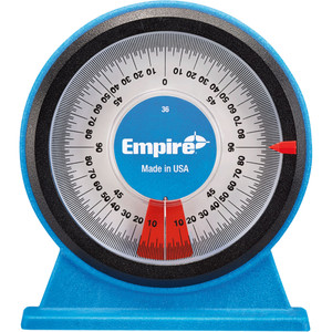 Empire Magnetic Polycast Analogue Protractor - 36