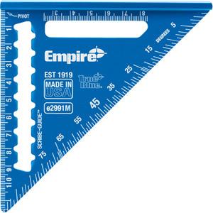 Empire 120mm True Blue™ Hi-Vis Laser Etched Mini Speed Square - E2991M