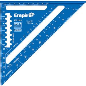 Empire 180mm True Blue™ Hi-Vis Laser Etched Mini Speed Square - E2994M