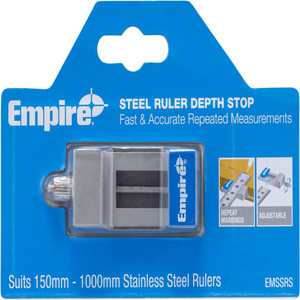 Empire Stainless Steel Ruler Stop - EMSSRS