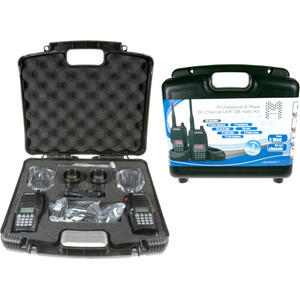 Crystal M 5W Handheld UHF CB Radio - Twin Pack - Rechargeable in Carry Case - DBH50RKT