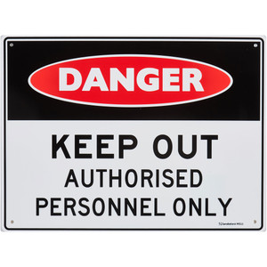 Sandleford Sign 225X300mm Keep Out Authorised Personnel Only - MS11