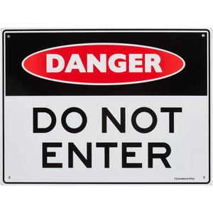 Sandleford Sign 300X225mm 'Danger Do Not Enter - MS12