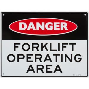 Sandleford Sign 225X300mm Forklft Operating Area - MS14
