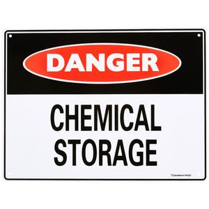 Sandleford Sign 300X225mm Danger Chem Storage - MS20