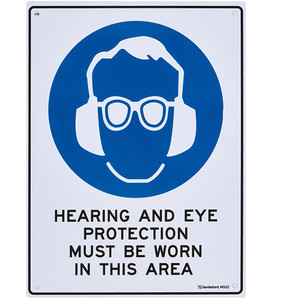 Sandleford Sign 225X300mm Hearing And Eye Protection - MS22