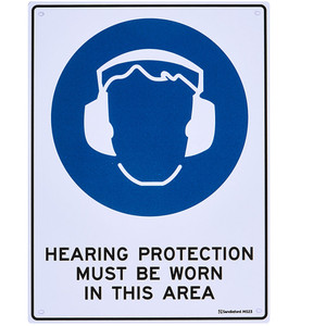 Sandleford Sign 225X300mm Hearing Protection - MS23
