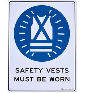 Sandleford Sign 225X300mm Safety Vest Mbw - MS26
