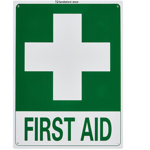Sandleford Sign 225X300mm First Aid - MS29