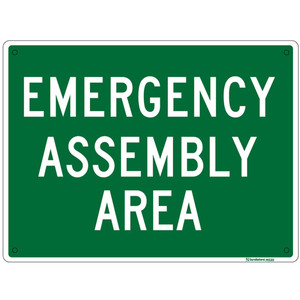 Sandleford Sign 225X300mm Emergency Assembly Area - MS30