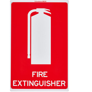 Sandleford Sign 225X300mm Fire Extinguisher Symbol - MS35