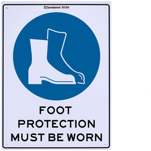 Sandleford Sign 225X300mm Foot Protection - MS86