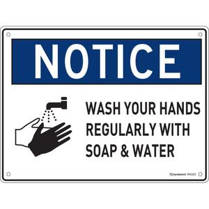 Sandleford Sign Pp 225 X 300mm Wash Hands Regularly - MS103