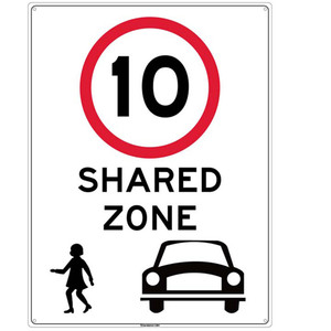 Sandleford Ky-Sign 450X600mm Shared Zone - LS84