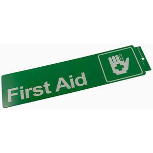 Sandleford Sign S/Adh 330X110mm First Aid - SIG05