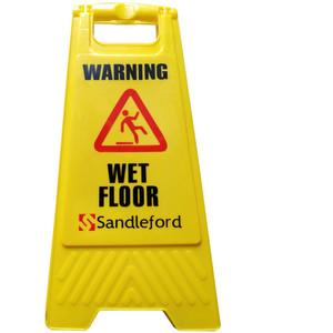 Sandleford Wet Floor Sign Yellow - SASY01