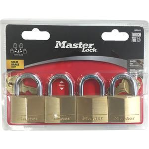 Master Lock Padlock Dia Br 40mm 22mm 4Pk - 140QAU
