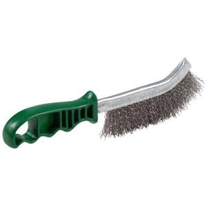 Weldclass Welders Brush-Hand 1Row Plas Handle S/S (Green) - TO-3204