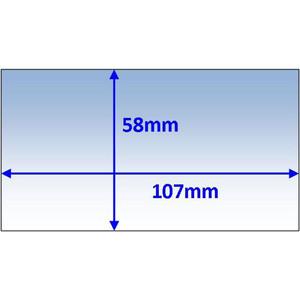 Weldclass Lens-Inner 107X58mm T/S Cig Prolite Pk5 - WC-05156