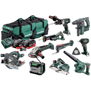 Metabo 18V 10pc Combo Kit With 2 x 10Ah Battery - MX10LB2HD10.0DD