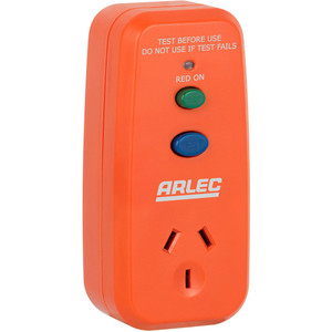 Arlec Singgle Outlet RCD Safety Switch - PB91
