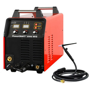 """Lincoln Electric Powercraft®250C """"Ready to weld"""" MIG Welder With BONUS PC26G TIG Torch - K69033-1AT"""