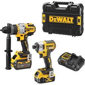 DeWalt 18V XR 2 Piece Kit - 5.0Ah/6.0Ah - DCZ297P1T1T-XE