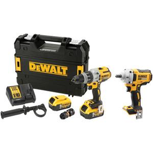 DeWalt 18V XR Li-Ion Brushless 2 Piece Combo Kit - 5.0Ah - DCK2094P2-XE