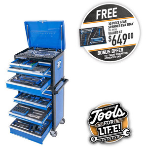 Kincrome Evolution 306 Piece 14 Drawer Eatra-Wide Tool Trolley - P1710