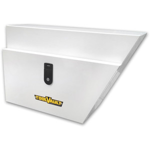 ToolVault White Steel Tool Box Right-hand - TVUTRHW