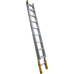 Bailey Pro Aluminium Extension ladder 3.1m/5.0m (10) Leveller 150kg industrial - FS13905