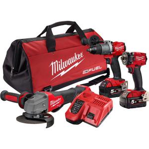 Milwaukee M18 FUEL™ 3 Piece Power Pack 3M2 - M18FPP3M2-502B
