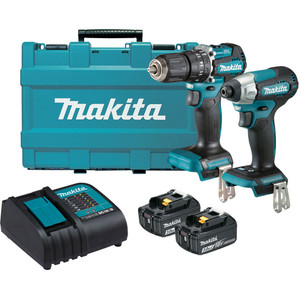 Makita 18V Brushless Sub-Compact 2-Piece Combo Kit - DLX2414S
