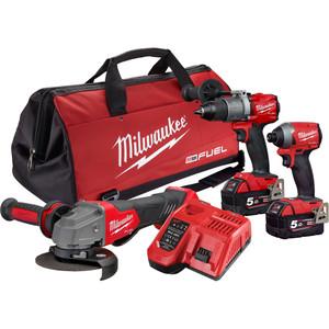 Milwaukee M18 FUEL™ 3 Piece Power Pack 3L2 - M18FPP3L2-502B