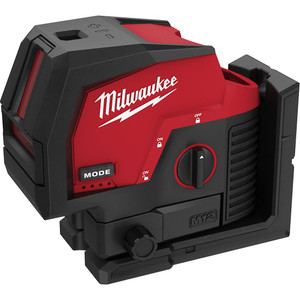 Milwaukee M12™ Cross Line + 2 Plumb Laser (Tool Only) - M12CPL-0C