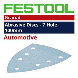 Festool 100mm DELTA 'Granat' Abrasive Sheet  Range