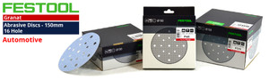 Festool 150mm 48 Hole 'GRANAT' Abrasive Disc Range for Automotive
