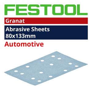 Festool 80mm x 133mm 'Granat' Abrasive Sheet Range