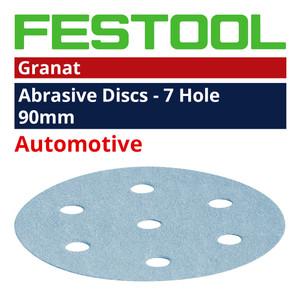 Festool  90mm 6 Hole 'Granat' Abrasive Discs Range