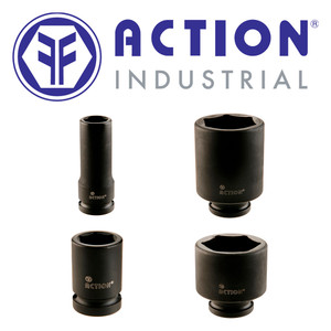 """Action Tools Range of 1/2"""" Drive 6 Point Metric Impact Sockets"""