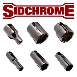 "SIDCHROME 1/4"" DRIVE METRIC 6 POINT SOCKET RANGE"